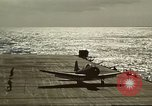 Image of US Navy aircraft operating in Battle of Midway Pacific Ocean, 1942, second 46 stock footage video 65675063000