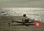 Image of US Navy aircraft operating in Battle of Midway Pacific Ocean, 1942, second 47 stock footage video 65675063000
