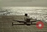 Image of US Navy aircraft operating in Battle of Midway Pacific Ocean, 1942, second 48 stock footage video 65675063000