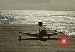 Image of US Navy aircraft operating in Battle of Midway Pacific Ocean, 1942, second 49 stock footage video 65675063000