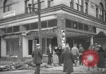Image of damage in Johnstown Pennsylvania from 1936 flood Johnstown Pennsylvania USA, 1936, second 32 stock footage video 65675063003