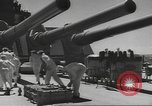 Image of USS North Carolina live firing exercise Atlantic Ocean, 1941, second 27 stock footage video 65675063047