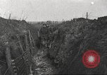 Image of American soldiers in World War 1 trench France, 1917, second 9 stock footage video 65675063069