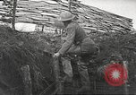 Image of American soldiers in World War 1 trench France, 1917, second 16 stock footage video 65675063069