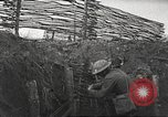 Image of American soldiers in World War 1 trench France, 1917, second 21 stock footage video 65675063069