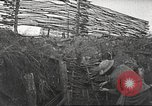 Image of American soldiers in World War 1 trench France, 1917, second 22 stock footage video 65675063069