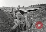 Image of American soldiers in World War 1 trench France, 1917, second 34 stock footage video 65675063069