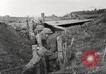 Image of American soldiers in World War 1 trench France, 1917, second 37 stock footage video 65675063069