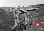 Image of American soldiers in World War 1 trench France, 1917, second 38 stock footage video 65675063069