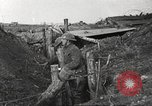 Image of American soldiers in World War 1 trench France, 1917, second 39 stock footage video 65675063069