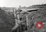 Image of American soldiers in World War 1 trench France, 1917, second 41 stock footage video 65675063069