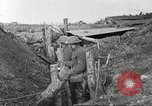 Image of American soldiers in World War 1 trench France, 1917, second 42 stock footage video 65675063069