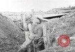 Image of American soldiers in World War 1 trench France, 1917, second 43 stock footage video 65675063069