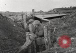 Image of American soldiers in World War 1 trench France, 1917, second 49 stock footage video 65675063069