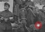 Image of American soldiers eat in World War 1 France, 1917, second 12 stock footage video 65675063070