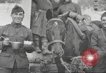 Image of American soldiers eat in World War 1 France, 1917, second 13 stock footage video 65675063070