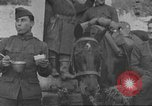 Image of American soldiers eat in World War 1 France, 1917, second 16 stock footage video 65675063070