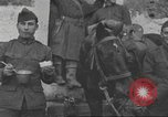 Image of American soldiers eat in World War 1 France, 1917, second 17 stock footage video 65675063070