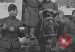 Image of American soldiers eat in World War 1 France, 1917, second 18 stock footage video 65675063070