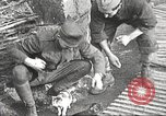 Image of US soldiers examine gunfire damaged car France, 1917, second 16 stock footage video 65675063072