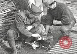 Image of US soldiers examine gunfire damaged car France, 1917, second 19 stock footage video 65675063072