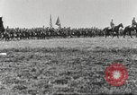 Image of Joint French and American infantry parade Europe, 1918, second 42 stock footage video 65675063075