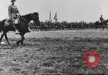Image of Joint French and American infantry parade Europe, 1918, second 43 stock footage video 65675063075