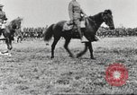 Image of Joint French and American infantry parade Europe, 1918, second 44 stock footage video 65675063075