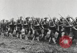 Image of Joint French and American infantry parade Europe, 1918, second 51 stock footage video 65675063075