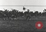Image of Joint French and American infantry parade Europe, 1918, second 57 stock footage video 65675063075