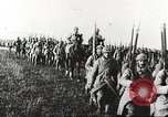 Image of Joint French and American infantry parade Europe, 1918, second 60 stock footage video 65675063075