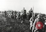 Image of Joint French and American infantry parade Europe, 1918, second 61 stock footage video 65675063075