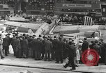 Image of German aircraft in British town square United Kingdom, 1941, second 2 stock footage video 65675063095