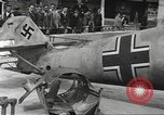 Image of German aircraft in British town square United Kingdom, 1941, second 4 stock footage video 65675063095
