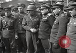 Image of officials meet Torgau Germany, 1945, second 18 stock footage video 65675063152