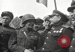 Image of officials meet Torgau Germany, 1945, second 25 stock footage video 65675063152