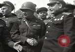 Image of officials meet Torgau Germany, 1945, second 28 stock footage video 65675063152