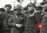 Image of officials meet Torgau Germany, 1945, second 37 stock footage video 65675063152