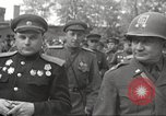 Image of officials meet Torgau Germany, 1945, second 41 stock footage video 65675063152