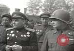 Image of officials meet Torgau Germany, 1945, second 43 stock footage video 65675063152