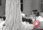 Image of manufacture of German Army parachutes World War 2 Germany, 1939, second 15 stock footage video 65675063156