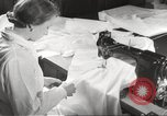 Image of manufacture of German Army parachutes World War 2 Germany, 1939, second 31 stock footage video 65675063156
