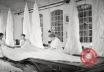 Image of manufacture of German Army parachutes World War 2 Germany, 1939, second 53 stock footage video 65675063156