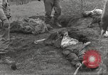 Image of Flossenbürg concentration camp atrocity victims Flossenburg Germany, 1945, second 34 stock footage video 65675063167