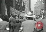 Image of May Day parade New York City USA, 1935, second 62 stock footage video 65675063187