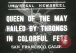 Image of Queen of the May San Francisco California USA, 1937, second 2 stock footage video 65675063189