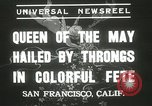 Image of Queen of the May San Francisco California USA, 1937, second 4 stock footage video 65675063189