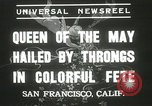 Image of Queen of the May San Francisco California USA, 1937, second 6 stock footage video 65675063189