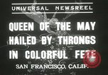 Image of Queen of the May San Francisco California USA, 1937, second 7 stock footage video 65675063189