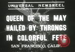 Image of Queen of the May San Francisco California USA, 1937, second 9 stock footage video 65675063189